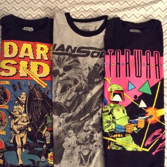 Star Wars Other - Lot of three men's small Star Wars t-shirts